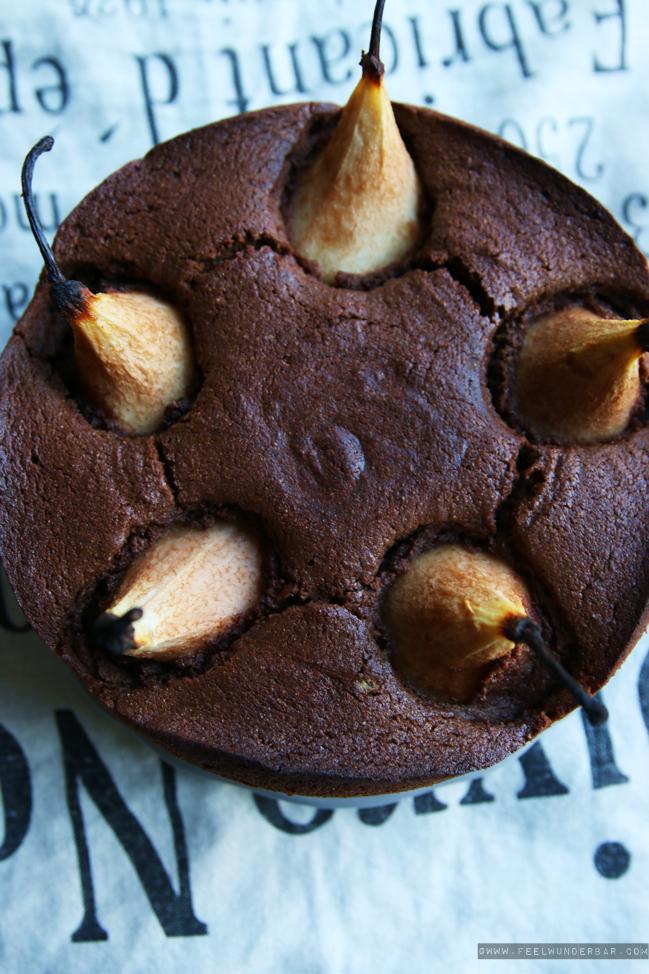 Lecker: Birnen-Schokoladen-Kuchen or Delicious Chocolate Pear Cake ...
