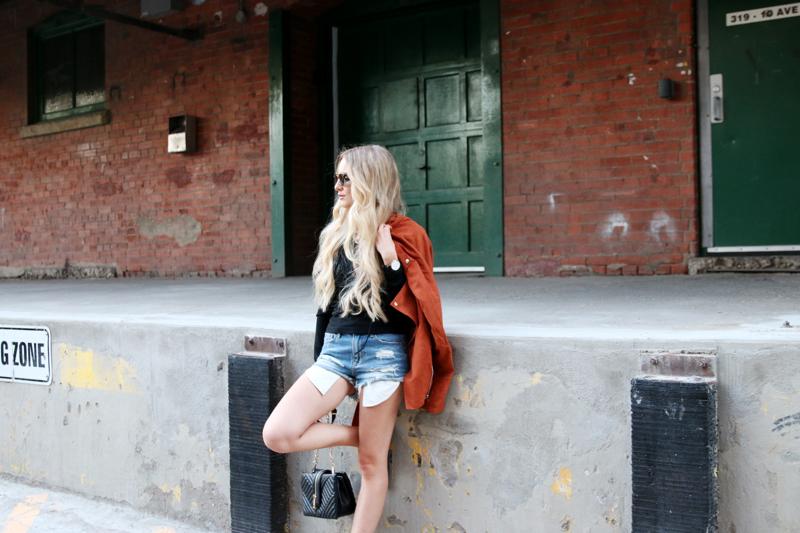 Brick Jacket Laceup Top Jean Shorts Birkenstock 7