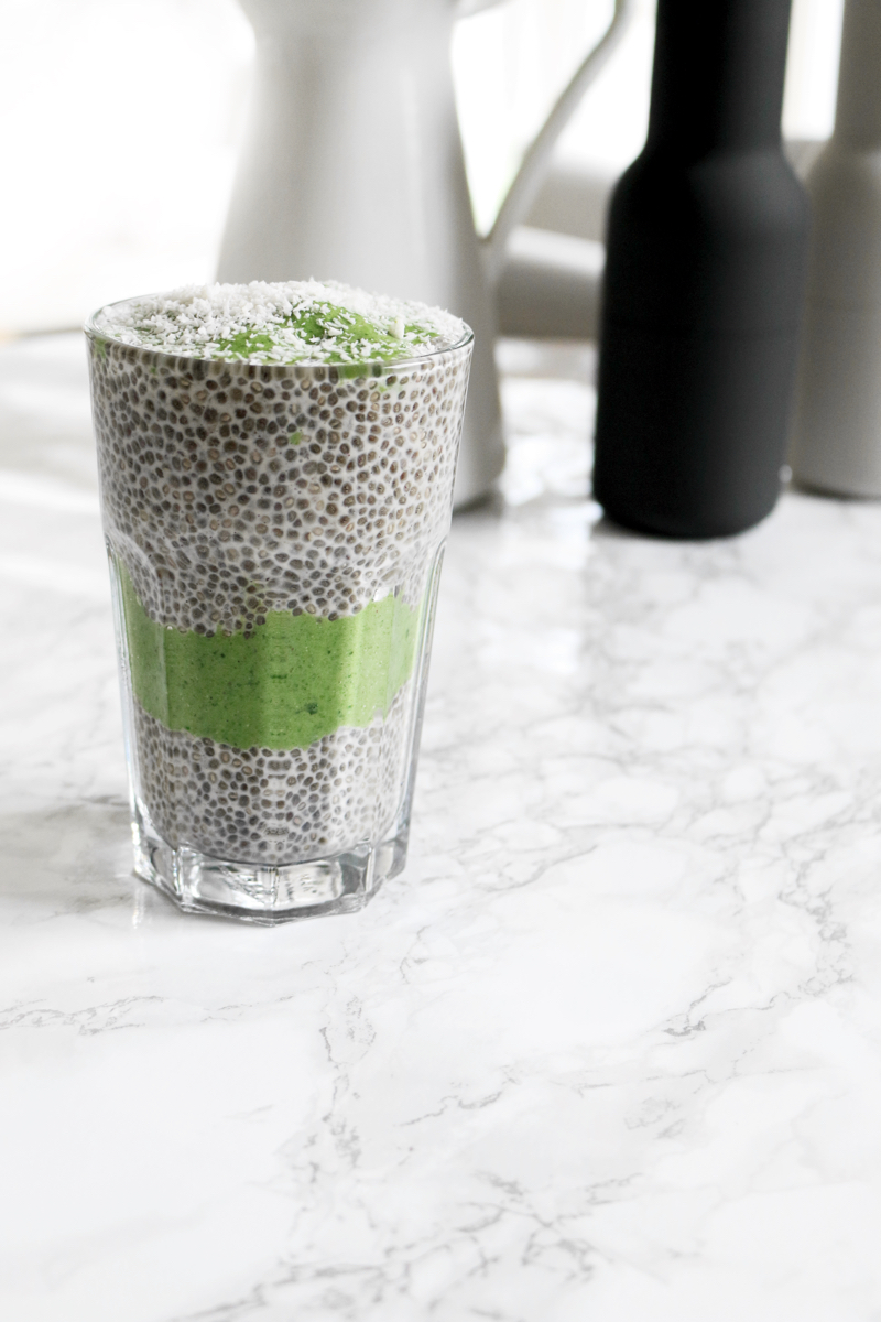 Recipe Green Smoothie Chia Parfait