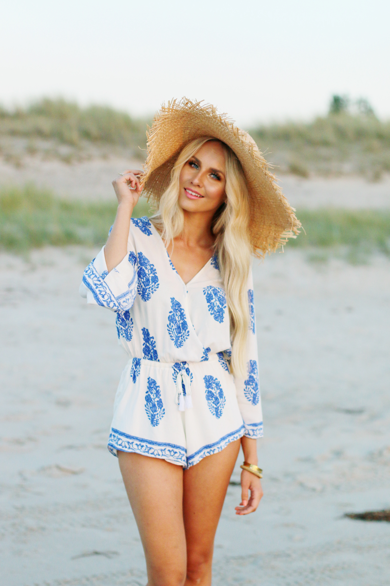 Summer Outfit Lookbook Store Playsuit Romper Blue White 2