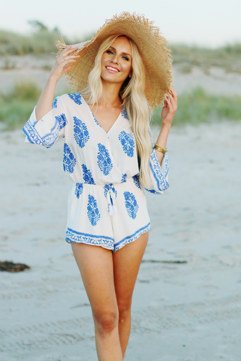 Summer Outfit Lookbook Store Playsuit Romper Blue White 3