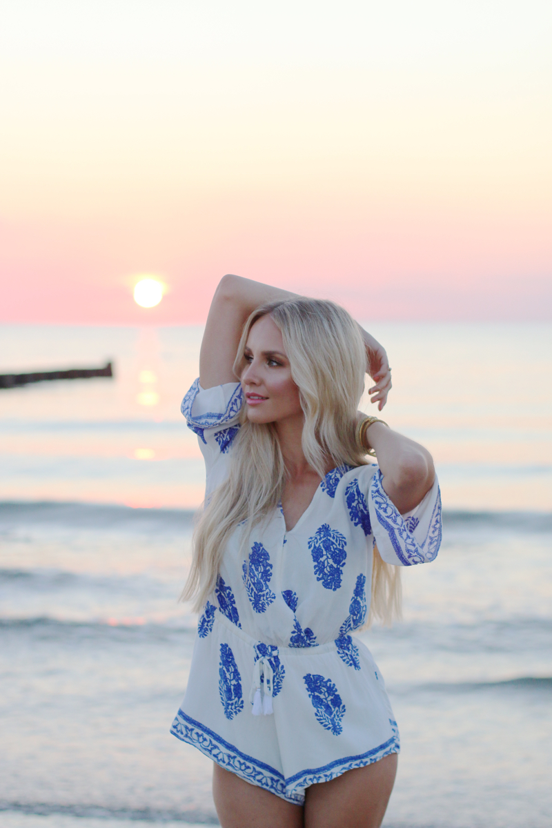 Summer Outfit Lookbook Store Playsuit Romper Blue White 4