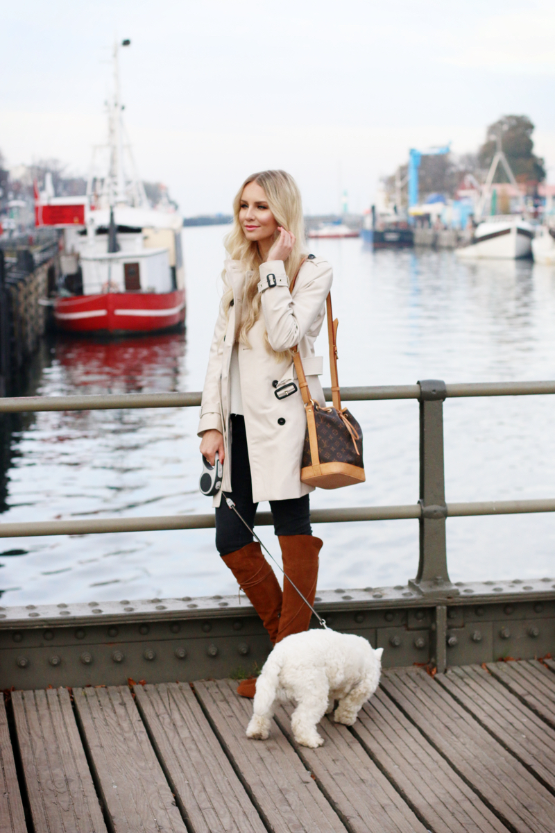 Outfit Trenchcoat by the habour zara knee high boots 5