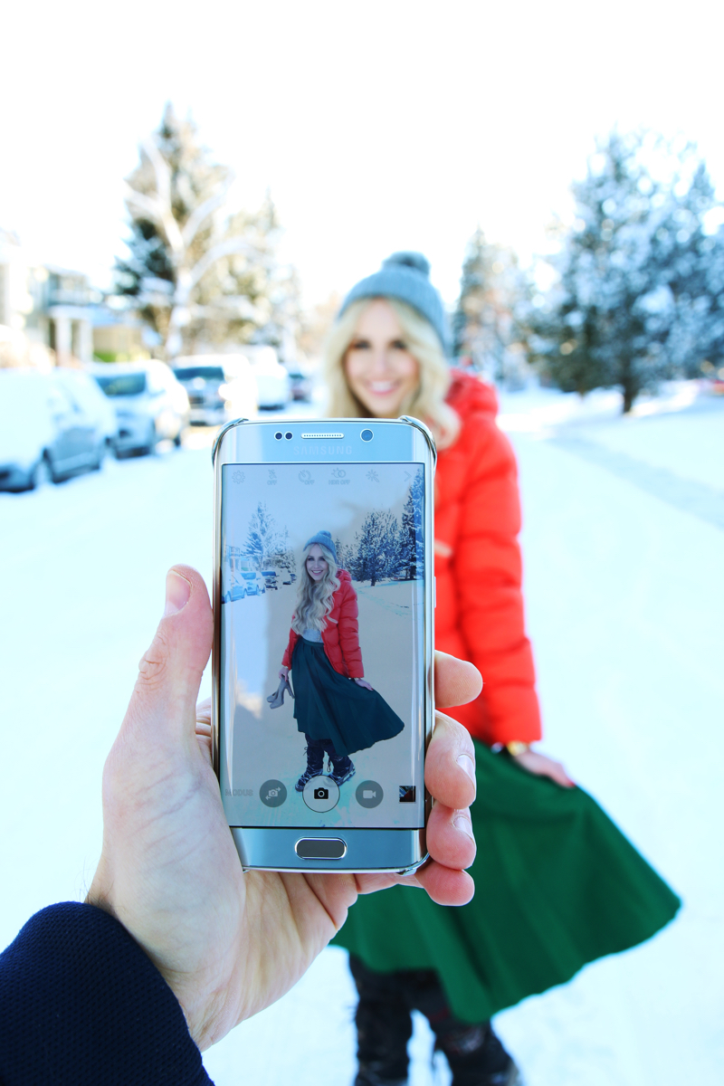 Christmas Look with Samsung