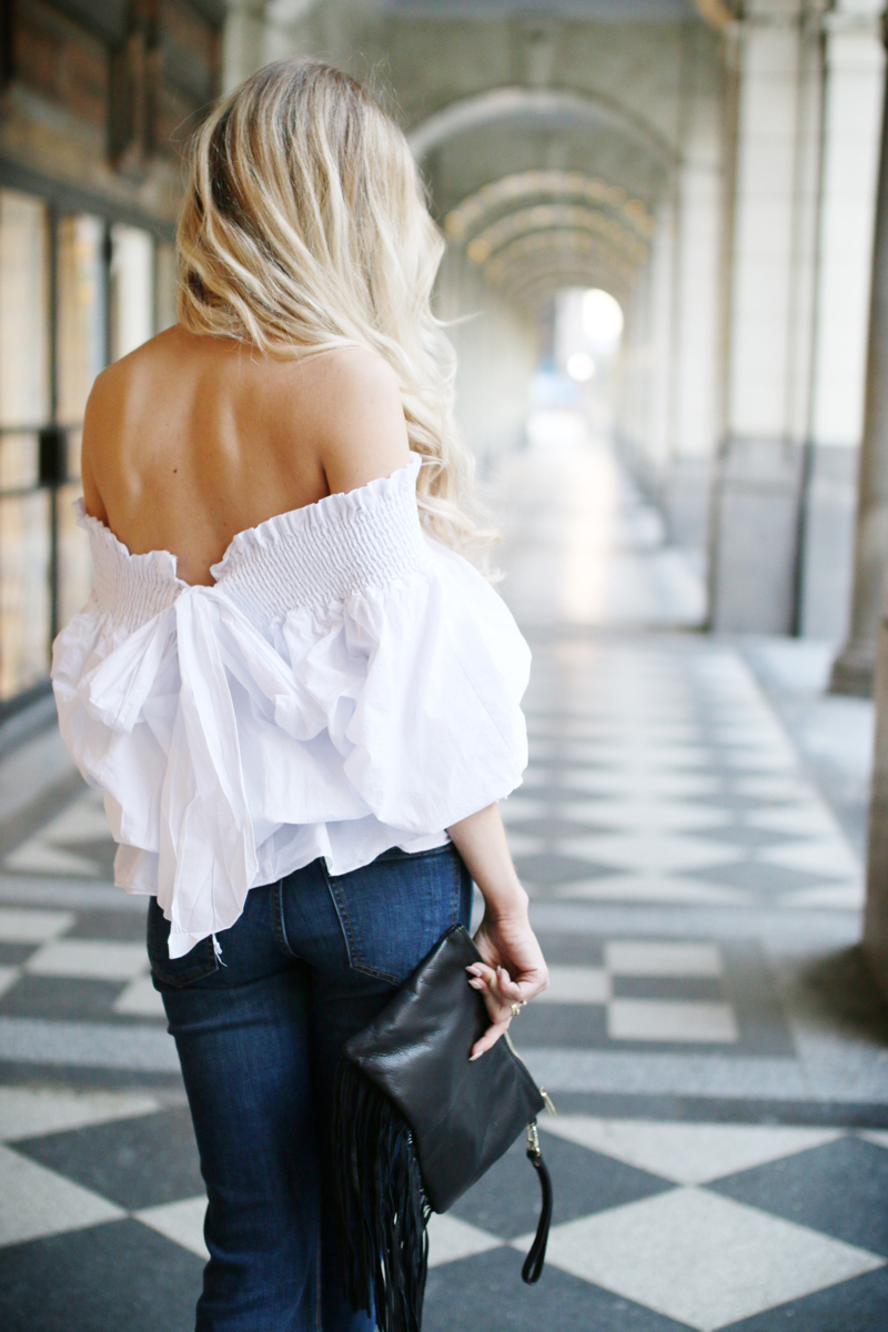 White off shoulder blouse 2