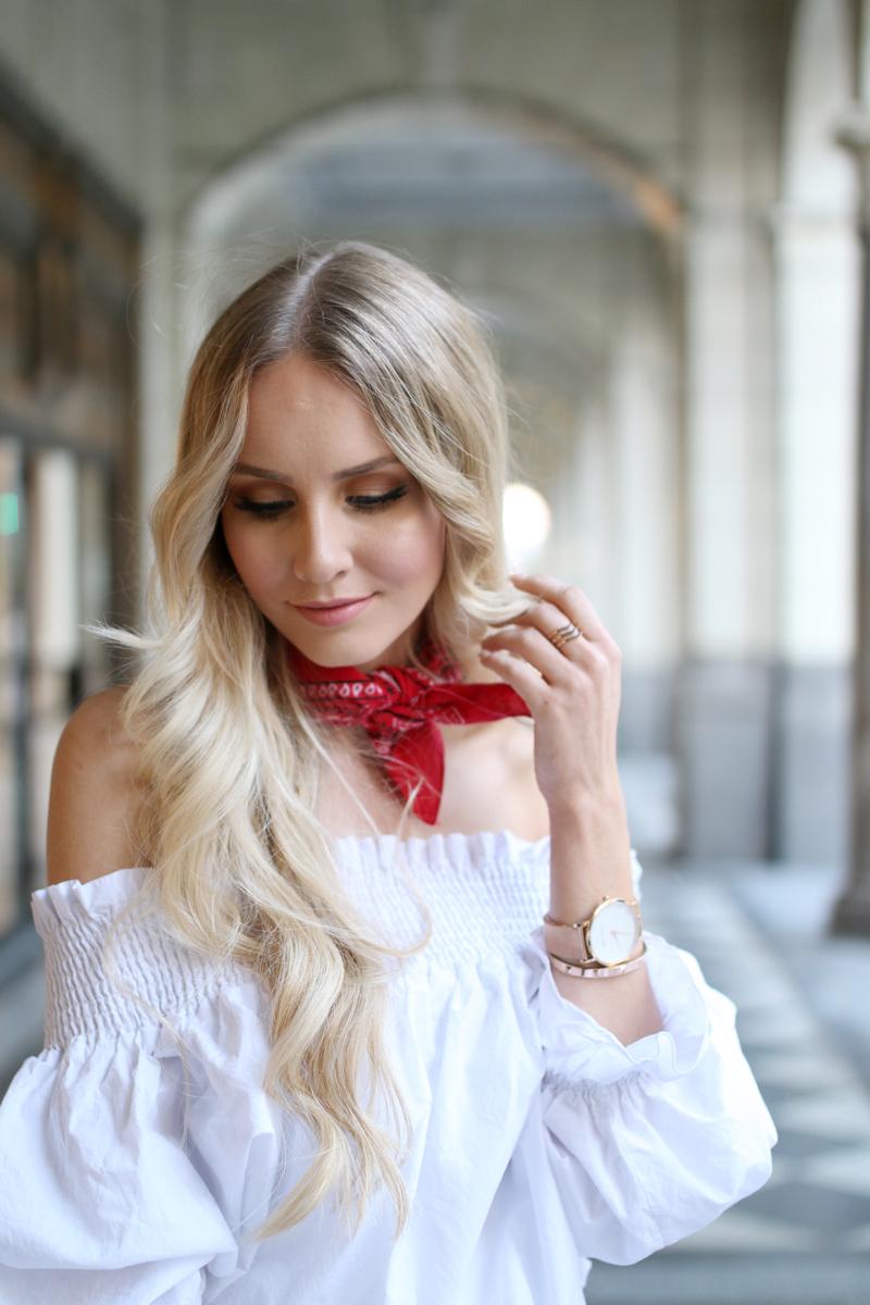 White off shoulder blouse 3