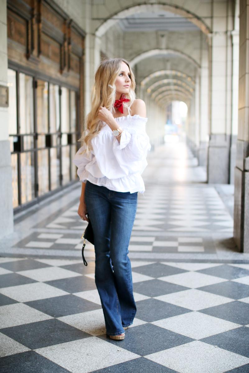 White off shoulder blouse 6