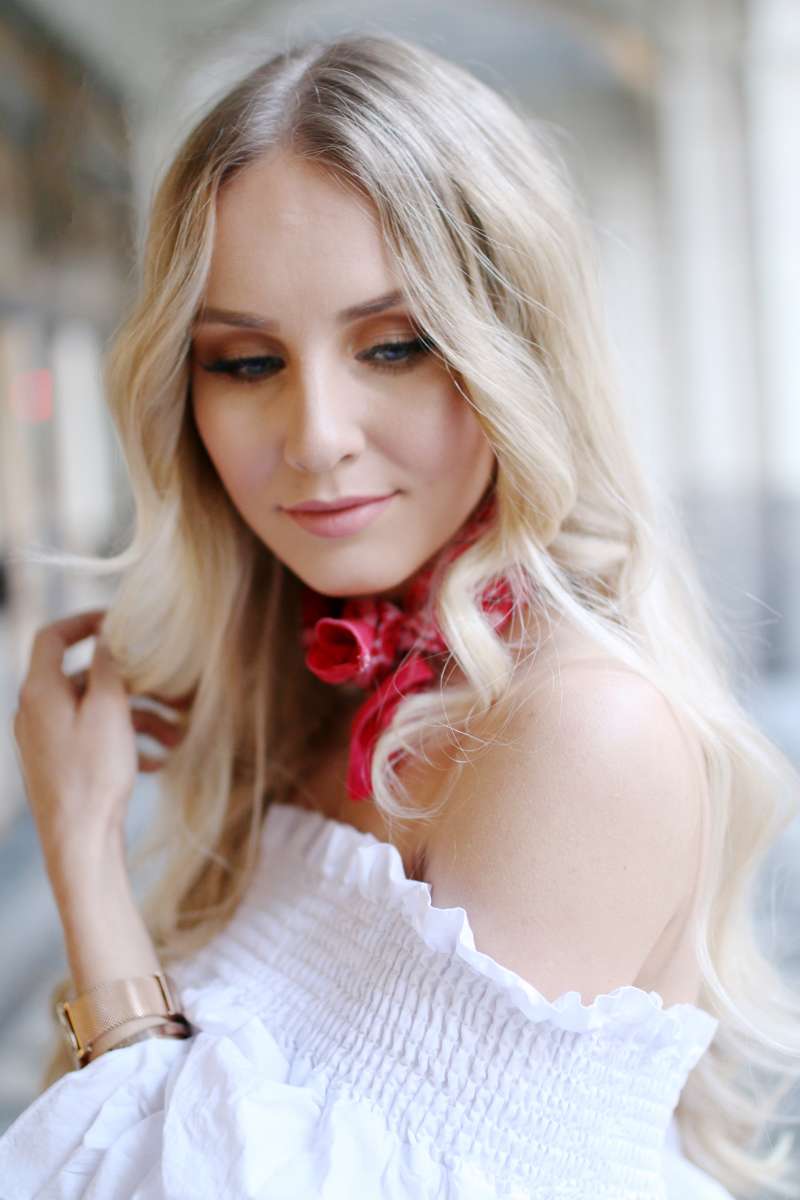 White off shoulder blouse 8