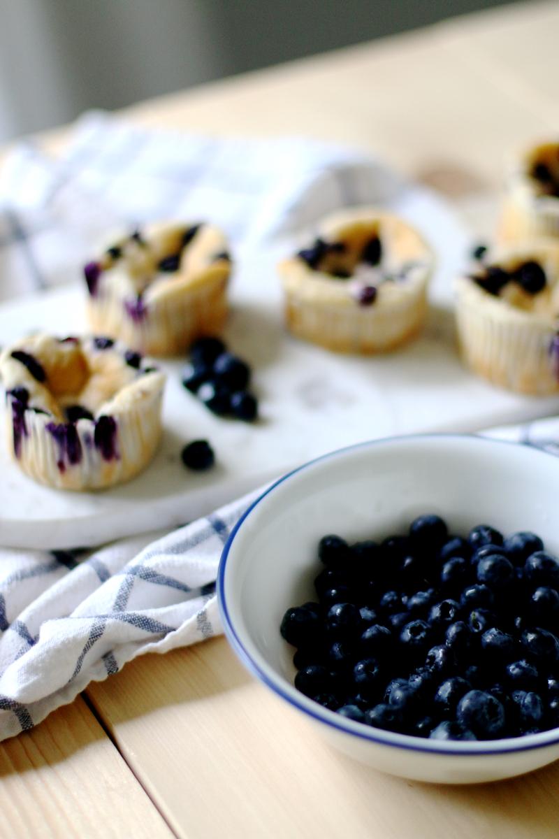 Quark Vanille Muffins mit Blaubeeren 6