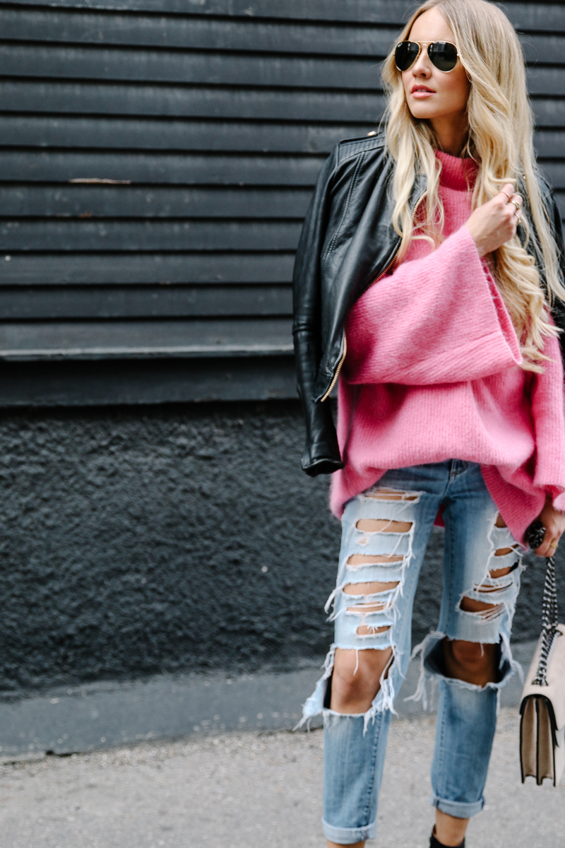 hm-pink-oversized-sweater-gucci-dionysus-ripped-denim-chloe-boots