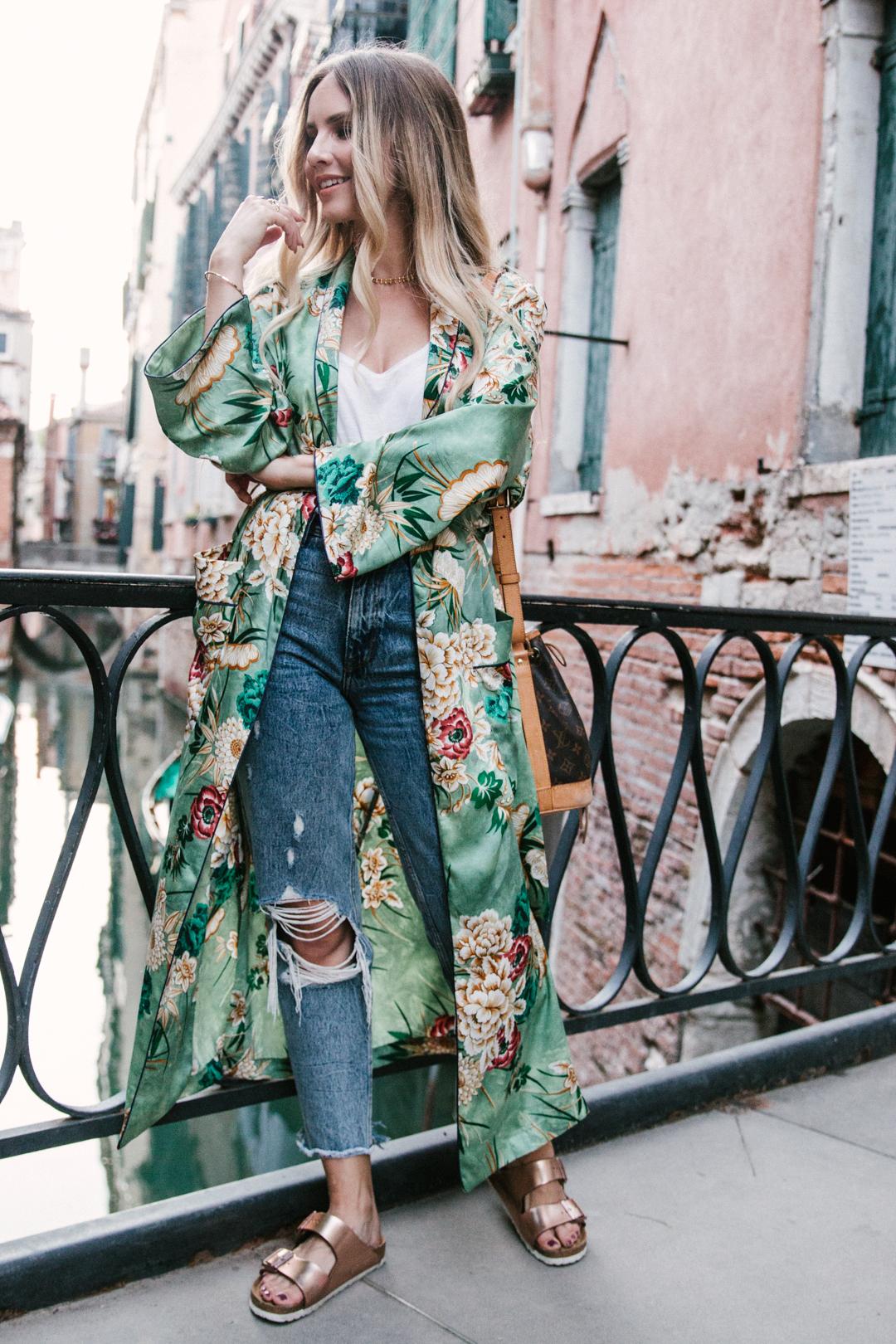Venice Travel Zara Floral Kimono 2 Feel Wunderbar